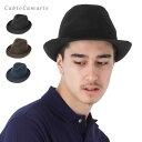 【70%OFF】帽子 カブロカムリエ ニット製ちょこんとつばの短い型押し中折れハット CABLOCAMURIE 中折れハット メンズ …