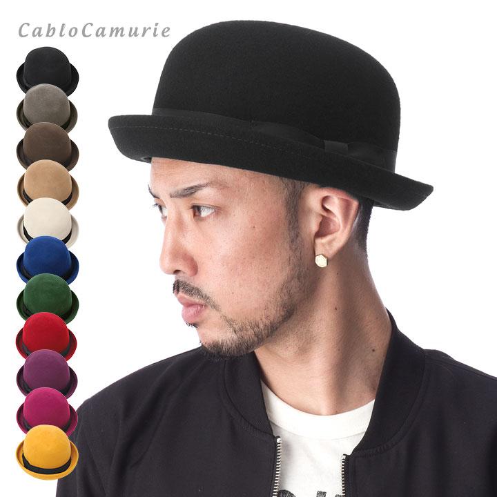 帽子 メンズ レディース ボーラーハット 全11色 カブロカムリエ CABLOCAMURIE フェルト