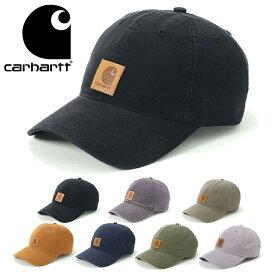 カーハート キャップ サイズ調整 ODESSA ウォッシュ加工 CARHARTT 帽子 ぼうし ブランド おしゃれ 秋冬 メンズ帽子 レディース帽子 メンズキャップ レディースキャップ ローキャップ ネイビー ブラック