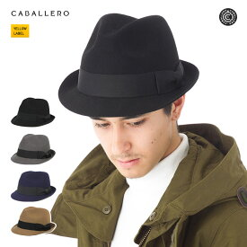 キャバレロ トリルビー ハット フィゲラス 帽子 CABALLERO TRILBY HAT FIGUERAS HARD FELT メンズ