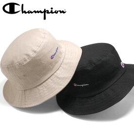 66b3313570b チャンピオン バケットハット TWILL LOGO CHAMPION ブラック ベージュ ぼうし ブランド おしゃれ ストリート メンズレディース  メンズ帽子