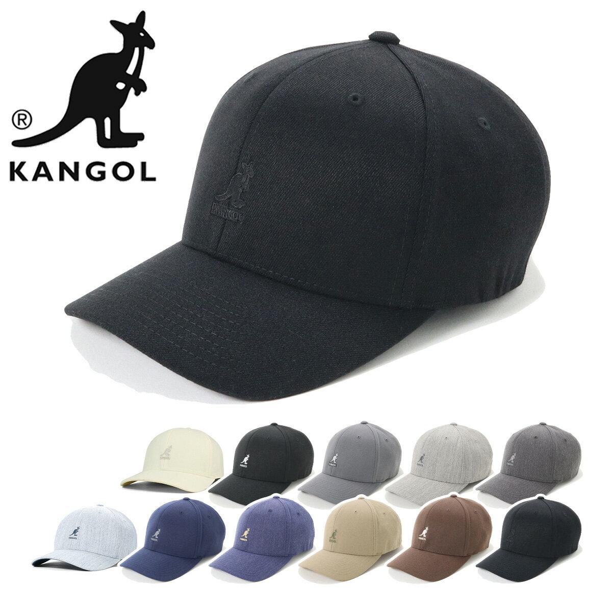 カンゴール キャップ ベースボール ウール フレックスフィット KANGOL 帽子 ブラック ぼうし 黒 おしゃれ ストリート ブランド シンプル 無地 ローキャップ メンズ帽子 レディース帽子 メンズキャップ レディースキャップ