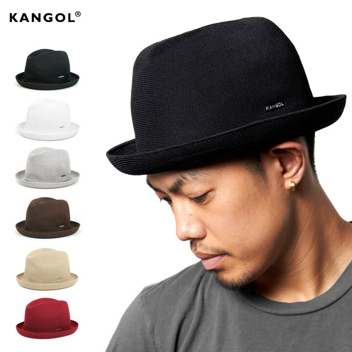 カンゴールトロピック プレイヤー 帽子 中折れハット KANGOL TROPIC PLAYER メンズ レディース 大きいサイズ 黒 白 ブランド メッシュ 中折れ 夏 レディース帽子 ベージュ ハット  メンズ帽子 春 春夏 中折れ帽子