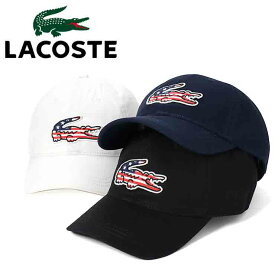 ラコステ キャップ サイズ調整 BIG CROC USA LACOSTE ぼうし ブランド おしゃれ 無地 シンプル メンズキャップ レディースキャップ メンズ帽子 レディース帽子 メンズレディースキャップ メンズレディース帽子 黒 ブラック ホワイト