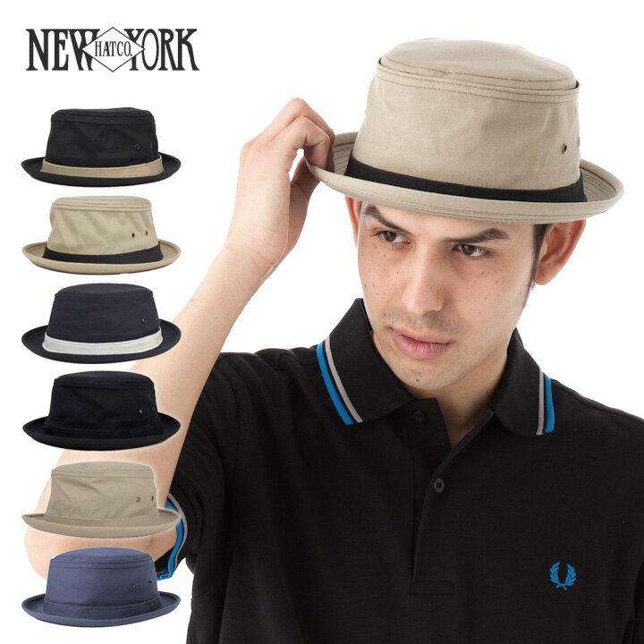 ニューヨークハット ポークパイハット コットン スティンジー/キャンバス 全6色 NEW YORK HAT [RV]【UNI】