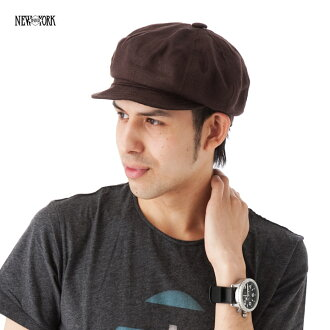 New York Hat linen Cap Brown NEWYORKHAT LINEN SPITFIRE BROWN #CP