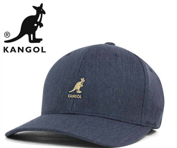 カンゴール キャップ ベースボール ウール フレックスフィット デニム KANGOL 帽子 ぼうし ブルー おしゃれ ストリート ブランド シンプル 無地 ローキャップ メンズ帽子 レディース帽子 メンズキャップ レディースキャップ
