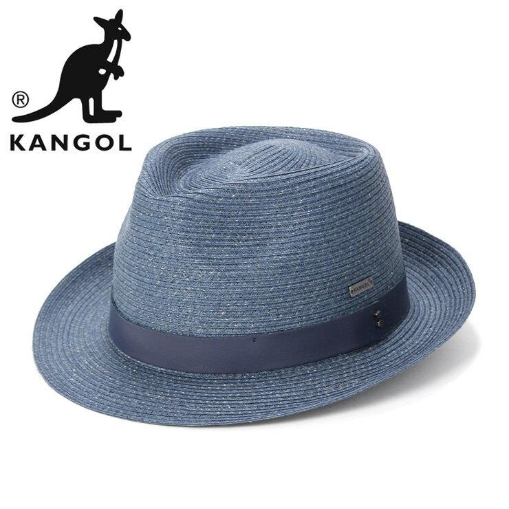 カンゴール 麦わら帽子 WAXED BRAID TRILBY デニム KANGOL 帽子 ぼうし ストローハット むぎわら トリルビー メンズストロー レディース帽子 メンズ帽子 ブランド おしゃれ 夏 春夏