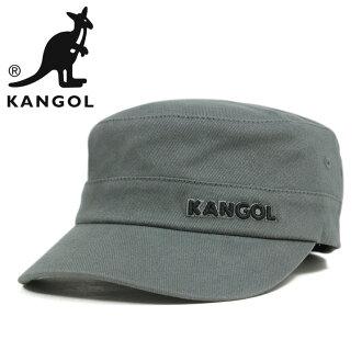 KANGOL 帽棉斜紋軍隊灰色帽子 KANGOL 棉斜紋軍隊帽灰色 [大小男裝大型軍事帽帽],[GY] #CP: W