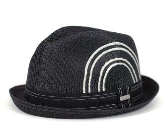 出口价格 KANGOL 帽子热带球员黑 KANGOL 阿什顿编织球员黑帽子草帽稻草帽子帽及大尺寸男士女士高尔夫和 [BK] #HA: S