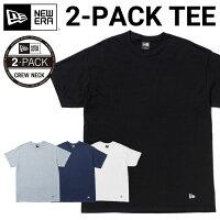 ニューエラ半袖Tシャツメンズ2枚セットブラックホワイトグレーネイビー全4色NEWERA[JS]【UNI】PO10