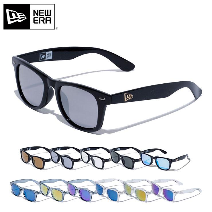 ニューエラ サングラス スクエア NEW ERA     new era ストリート ブランド newera UVカット 紫外線 海 旅行 メンズサングラス カラーサングラス 黒【UNI】