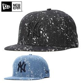 01b4cc638b5ed ニューエラ キャップ 59FIFTY スプラッシュペイント MLB ニューヨークヤンキース デニム NEW ERA ベースボールキャップ 帽子 黒