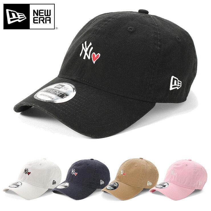 オンスポッツ別注 ニューエラ キャップ サイズ調整 9TWENTY MINI LOGO HEART MLB ニューヨークヤンキース ホワイト NEW ERA 帽子 ぼうし ブランド おしゃれ 春夏 夏 メンズキャップ レディースキャップ new era メンズ帽子 レディース帽子 newera ローキャップ