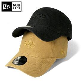 オンスポッツ別注 ニューエラ キャップ サイズ調整 9TWENTY BRUSHED MOLESKIN BOX LOGO NYC NEW ERA ブラック ぼうし ブランド おしゃれ ストリート new era メンズキャップ newera メンズ帽子 黒