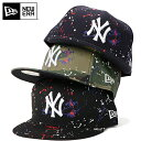 ニューエラ キャップ 59FIFTY COLOR SPLASH MLB ニューヨークヤンキース NEW ERA ブラック ぼうし ブランド 野球帽 ベースボールキャップ おしゃれ new era newera メンズキャップ 黒 迷彩 迷彩柄 カモフラ