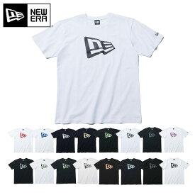 ニューエラ Tシャツ ベーシック フラッグロゴ NEW ERA ブラック ホワイト new era ブランド おしゃれ ストリート newera コットン 大きめ 大きいサイズ 半袖 黒 白 【MB】