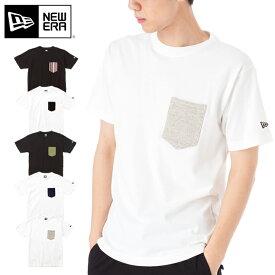 オンスポッツ別注 ニューエラ Tシャツ ポケット NEW ERA new era ブランド おしゃれ ストリート newera コットン 大きめ 大きいサイズ 半袖 黒 白【MB】