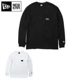 オンスポッツ別注 ニューエラ Tシャツ 長袖 ポケット BLACK PATCH NEW ERA new era ブランド おしゃれ ストリート newera 長そで ロンT 白 黒