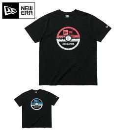 ニューエラ ポケモン コラボ Tシャツ ブラック NEW ERA POKEMON new era ブランド おしゃれ ストリート newera 半袖 半そで 半袖Tシャツ 半そでTシャツ 【MB】