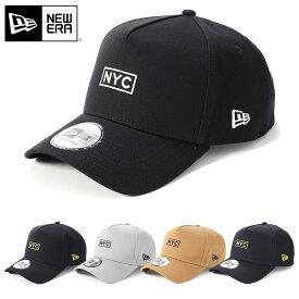 ニューエラ キャップ スナップバック 9FORTY Aフレーム ボックスロゴ NYC NEW ERA ぼうし ブランド おしゃれ ストリート newera ニューエラキャップ メンズキャップ レディースキャップ メンズ レディース メンズレディース帽子 黒 ブラック グレー カーキ ネイビー
