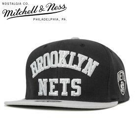ミッチェル&ネス キャップ スナップバック WORDMARK JERSEY HOOK NBA ブルックリン ネッツ ブラック Mitchell&Ness 【返品・交換対象外】