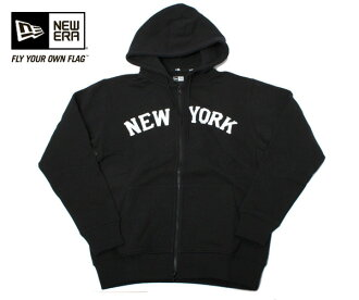 New era sweatshirts Zip Hoodie hoodies New York black NEWERA SWEAT FULL-ZIPHOODIE NEW YORK BLACK caps new era cap new era caps big size mens ladies and [BK] #AP: TP