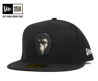 New era x 20 Century Fox Cap monkey planet ape face Black Hat NEWERA×20 TH CENTURY FOX 59FIFTY CAP PLANET OF THE APES APE FACE BLACK #HA [new era cap new era caps big size mens ladies], [NV]: O