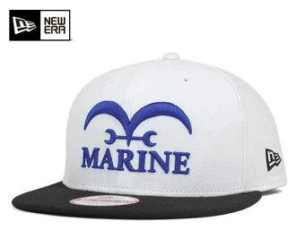 新埃拉×连衣裙突然弹回盖子海军陆战队白帽子New Era×ONEPIECE 9FIFTY SNAPBACK CAP MARINE WHITE[盖子人帽子突然弹回][WH]#CP:S