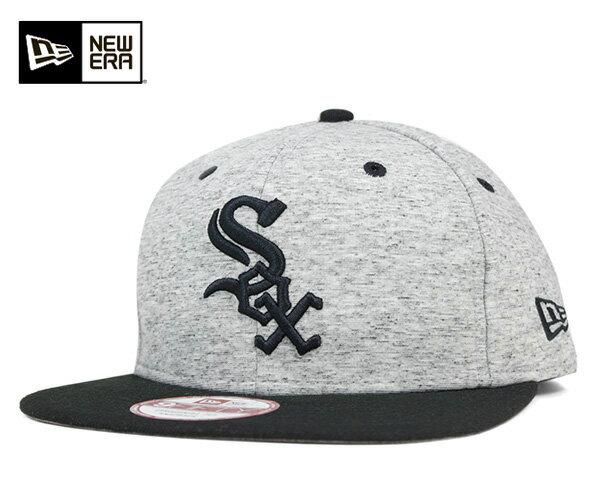 NEW ERA(ニューエラ) 9FIFTY スナップバックキャップ チームローグ MLB シカゴ ホワイト ソックス グレー 帽子 メンズ レディース