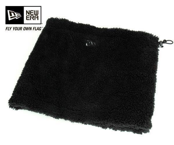 NEW ERA(ニューエラ) ネックウォーマー ボアフリース ブラック 帽子 メンズ レディース