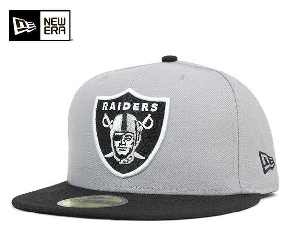ニューエラ キャップ 59FIFTY NFL オークランド レイダース グレー 11434017 NEW ERA 帽子 メンズ レディース [JS]