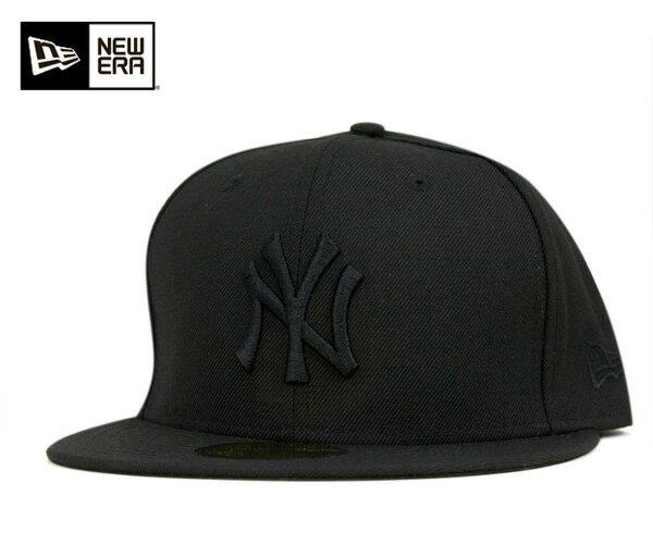 ニューエラ キャップ 59FIFTY MLB ニューヨークヤンキース ブラック/ブラック NEW ERA 帽子 メンズ レディース【返品・交換対象外】