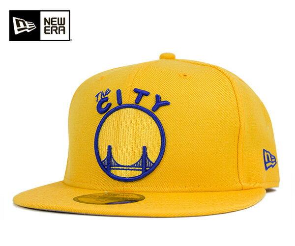 ニューエラ キャップ 59FIFTY NBA ゴールデンステイト ウォリアーズ クラシックウール イエロー NEW ERA 帽子 メンズ レディース