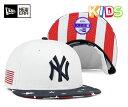 ニューエラ キッズ スナップバック キャップ ニューヨークヤンキース スターズ アンド ストライプス ネイビー 帽子 NEW ERA KIDS 9FIFTY S...