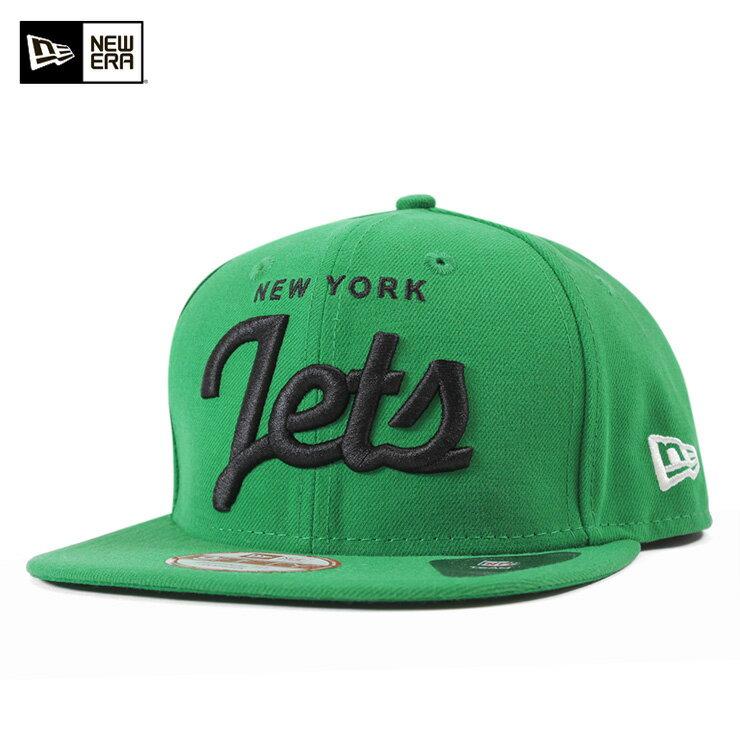 NEW ERA(ニューエラ) 9FIFTY キャップ スナップバック ニューヨーク ジェッツ ヒストリック スクリプト ケリーグリーン 帽子 NFL NEW YORK JETS HISTORIC SCRIPT KELLY GREEN