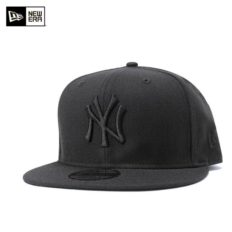ニューエラ NEW ERA 9FIFTY スナップバックキャップ MLB ニューヨークヤンキース ブラック/ブラック 11308476帽子 メンズ レディース ベースボールキャップ