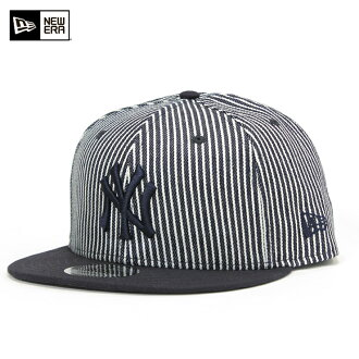New gills 9FIFTY snapback cap MLB New York Yankees navy hickory NEW ERA