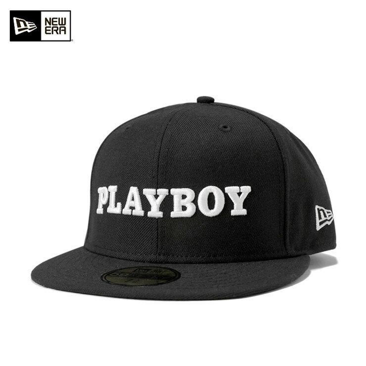 ニューエラ キャップ プレイボーイ 59FIFTY ブラック ピンズ付き PLAYBOY NEW ERA NEWERA 帽子 メンズ レディース