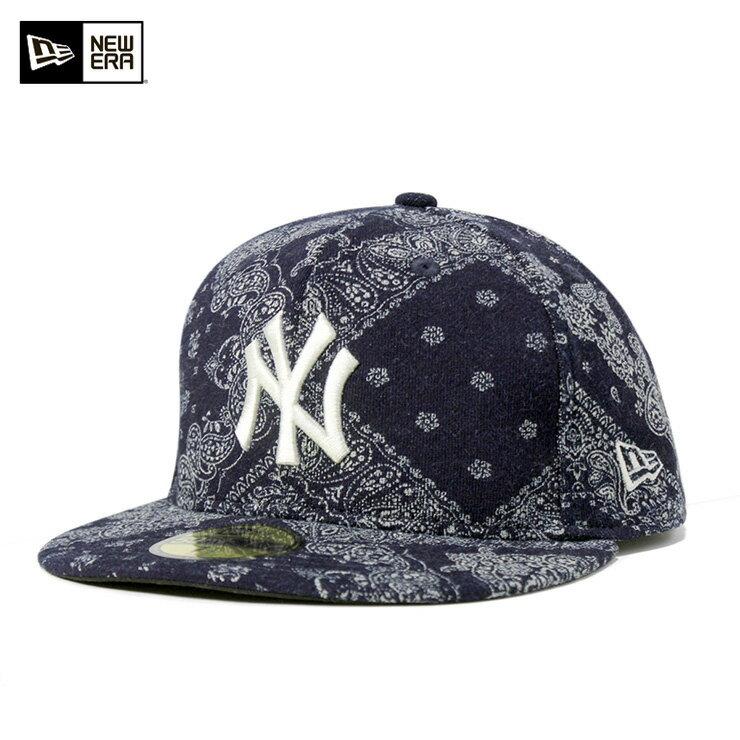 ニューエラ キャップ オンスポッツ別注 59FIFTY MLB ニューヨークヤンキース インディゴ ペイズリー ネイビー NEW ERA ONSPOTZ ORIGINAL