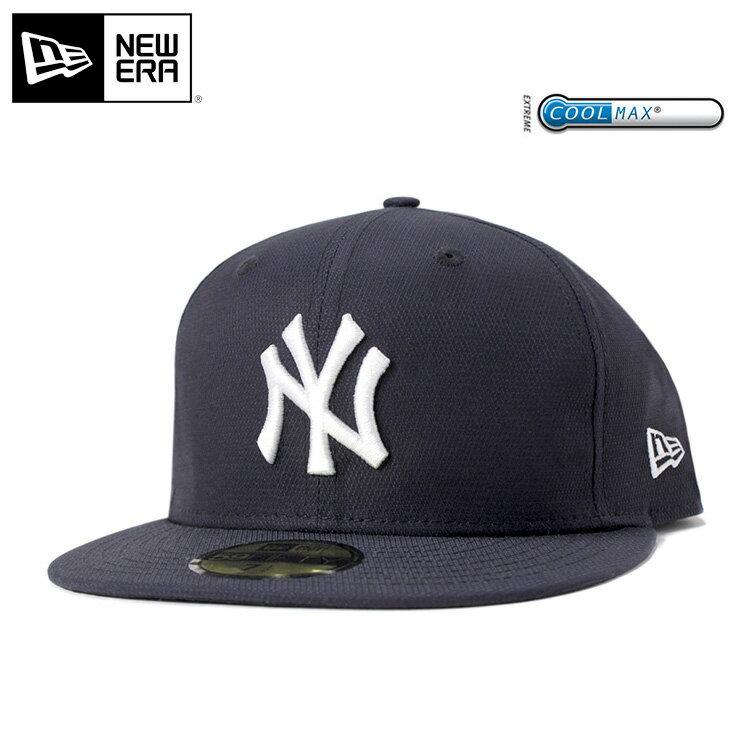 ニューエラ キャップ 59FIFTY クールマックス ドビーストレッチ MLB ニューヨークヤンキース ネイビー ONSPOTZ COOLMAX || ヤンキース new era newera ニューエラキャップ スポーツキャップ ストリート ブランド 野球帽子 野球帽 ベースボールキャップ ぼうし 帽子