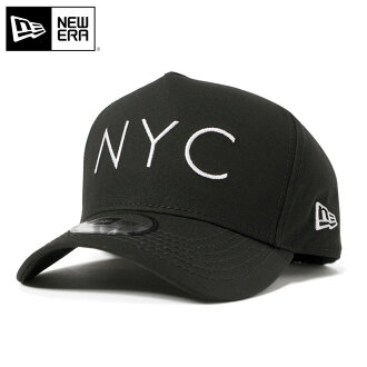 新时代帽 NYC 标志补丁顶黑帽子纽埃尔章 D 帧 NYC 徽标黑色 [大新时代帽新时代帽大小男装女装],[BK] #CP: S