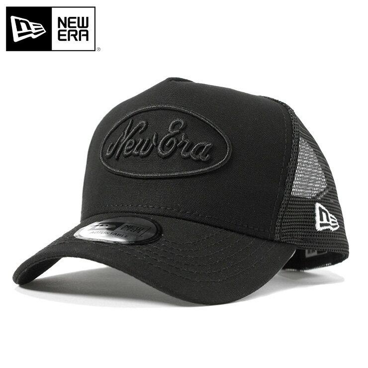 ニューエラ メッシュキャップ 9FORTY Dフレーム トラッカー オールドロゴ ダック ブラック NEW ERA || メンズ 黒 ぼうし ブランド ニューエラメッシュキャップ メッシュ newera ニューエラキャップ 帽子 キャップ