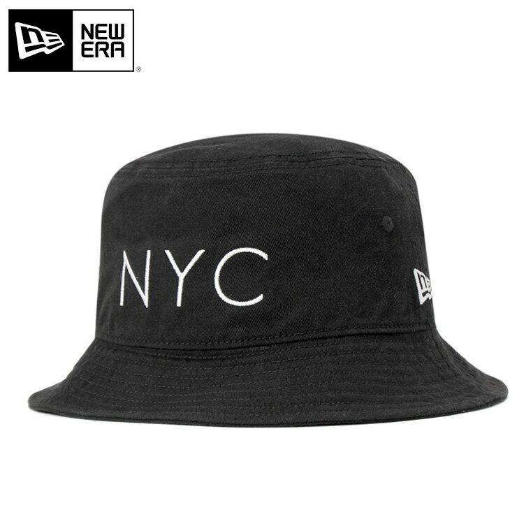ニューエラ NEW ERA BUCKET-01 バケットハット NYC コットン ウォッシュ加工 ブラック 帽子 メンズ レディース