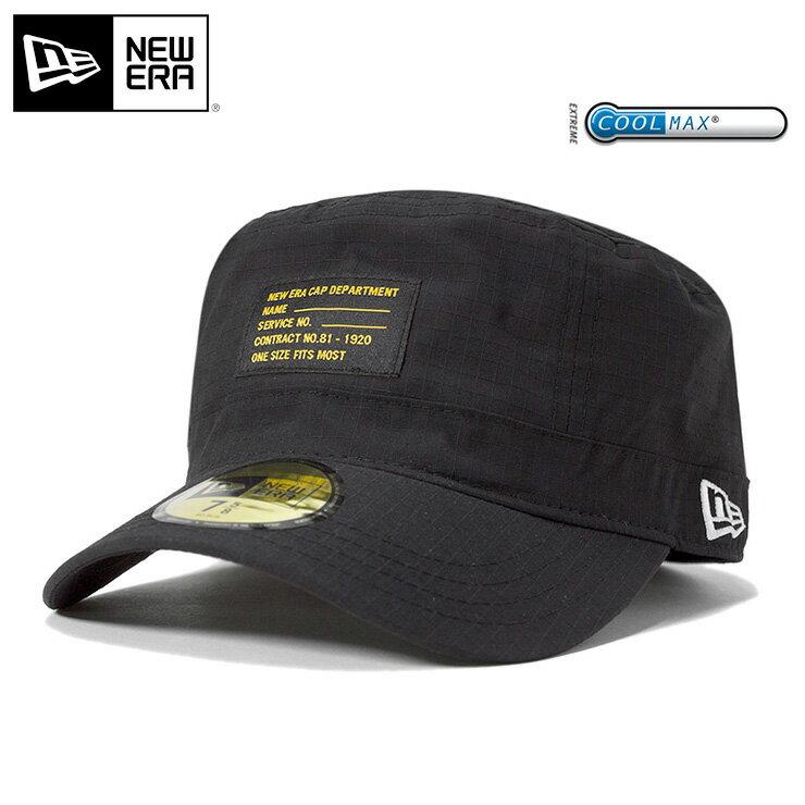 オンスポッツ別注 NEW ERA(ニューエラ) WM-01 ワークキャップ リップストップ クールマックス ブラック 帽子 メンズ レディース