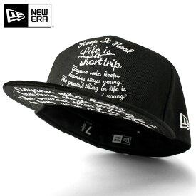ニューエラ キャップ オンスポッツ別注 59FIFTY KEEP IT REAL ブラック || フラットキャップ new era 黒 きゃっぷ メンズ ダンス帽子 ストリートキャップ メンズ帽子 メンズキャップ帽子 かっこいい ストリート newera ニューエラキャップ ブランド ぼうし 帽子
