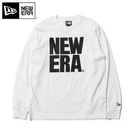 ニューエラ Tシャツ 長袖 ビッグロゴ ベーシック ホワイト NEW ERA 長そで ロンT アパレル メンズTシャツ レディースTシャツ ブランド おしゃれ ストリート 秋冬 シンプル 大きいサイズ 白