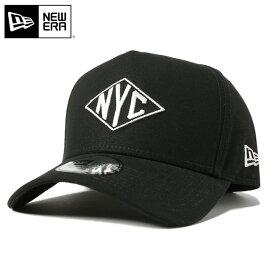 ニューエラ キャップ スナップバック 9FORTY Aフレーム RHOMBUS NYC ダック ブラック/ホワイト NEW ERA スナップバックキャップ 帽子 黒 new era メンズキャップ ストリート レディース帽子 newera ぼうし メンズ帽子