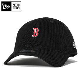ニューエラ キャップ ストラップバック 9TWENTY ミニロゴ コーデュロイ MLB ボストン レッドソックス ブラック NEW ERA n137tw505