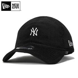 ニューエラ キャップ ストラップバック 9TWENTY ミニロゴ コーデュロイ MLB ニューヨークヤンキース ブラック NEW ERA n137tw505